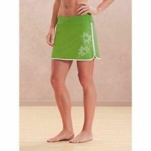 Athleta Swift Zip Tennis Skort Skirt Lime Green 4